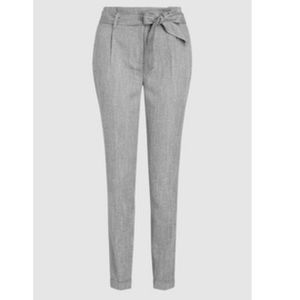 Pants - Gray Taper Ankle Trouser